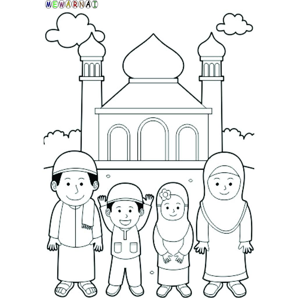Paket Mewarnai Bisa Dipajang Anak Muslim Shopee Indonesia