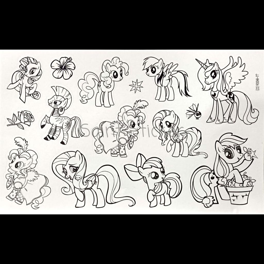 Buku Stiker Anak Sticker Book Gambar Tempel Karakter Little Pony Shopee Indonesia