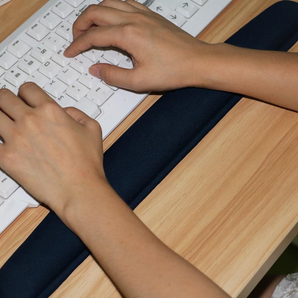 Mouse Pad Ergonomically Wrist Rest Mousepad Bantal Biru Daftar Yjfashion 1 Set Bantalan Support Istirahat Lengan Keyboard Bahan Gel Warna