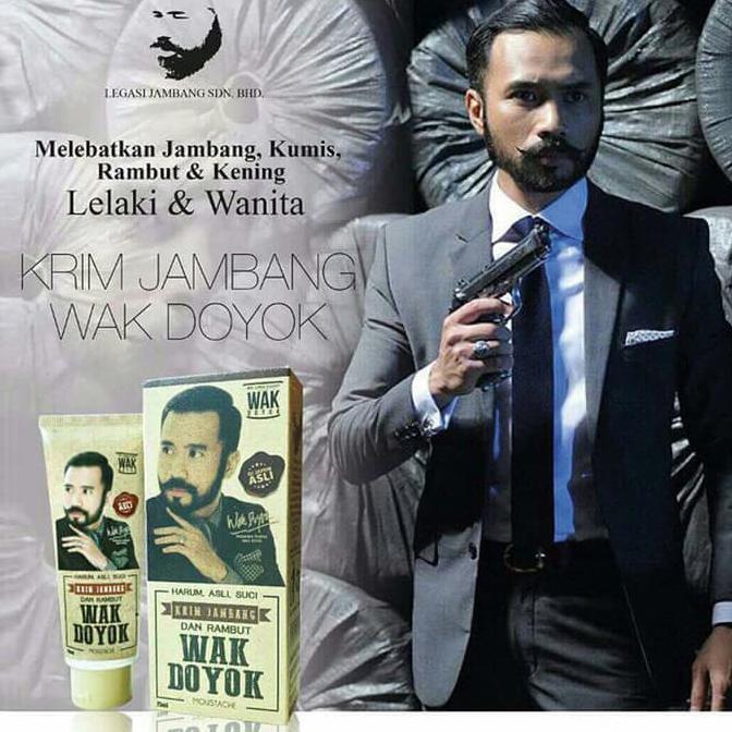 Krim Jambang Wak Doyok Penumbuh Brewok Cream WakDoyok Legasi Malaysia | Shopee Indonesia