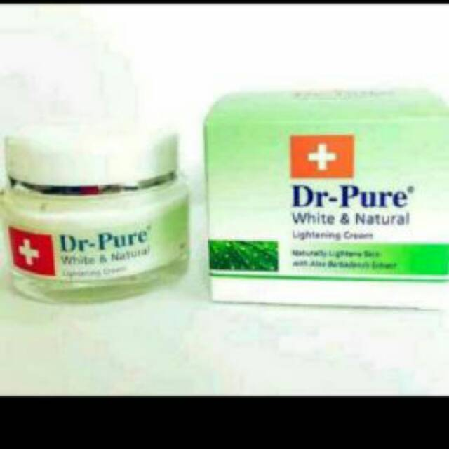 DR PURE WHITE & NATURAL LIGHTENING CREAM 100% ORIGINAL BPOM/ LIGHTENING CREAM DR PURE/PELEMBAB | Shopee Indonesia
