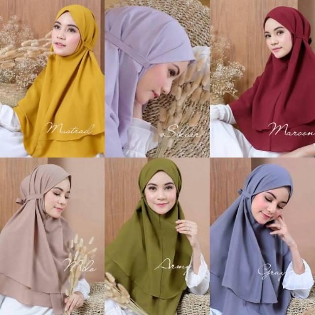 Hijab Bergo 2 Layer Diamond Bergo Aisyah Shopee Indonesia