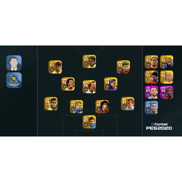 akun Pes Mobile 2020 GP 1jt + Legend