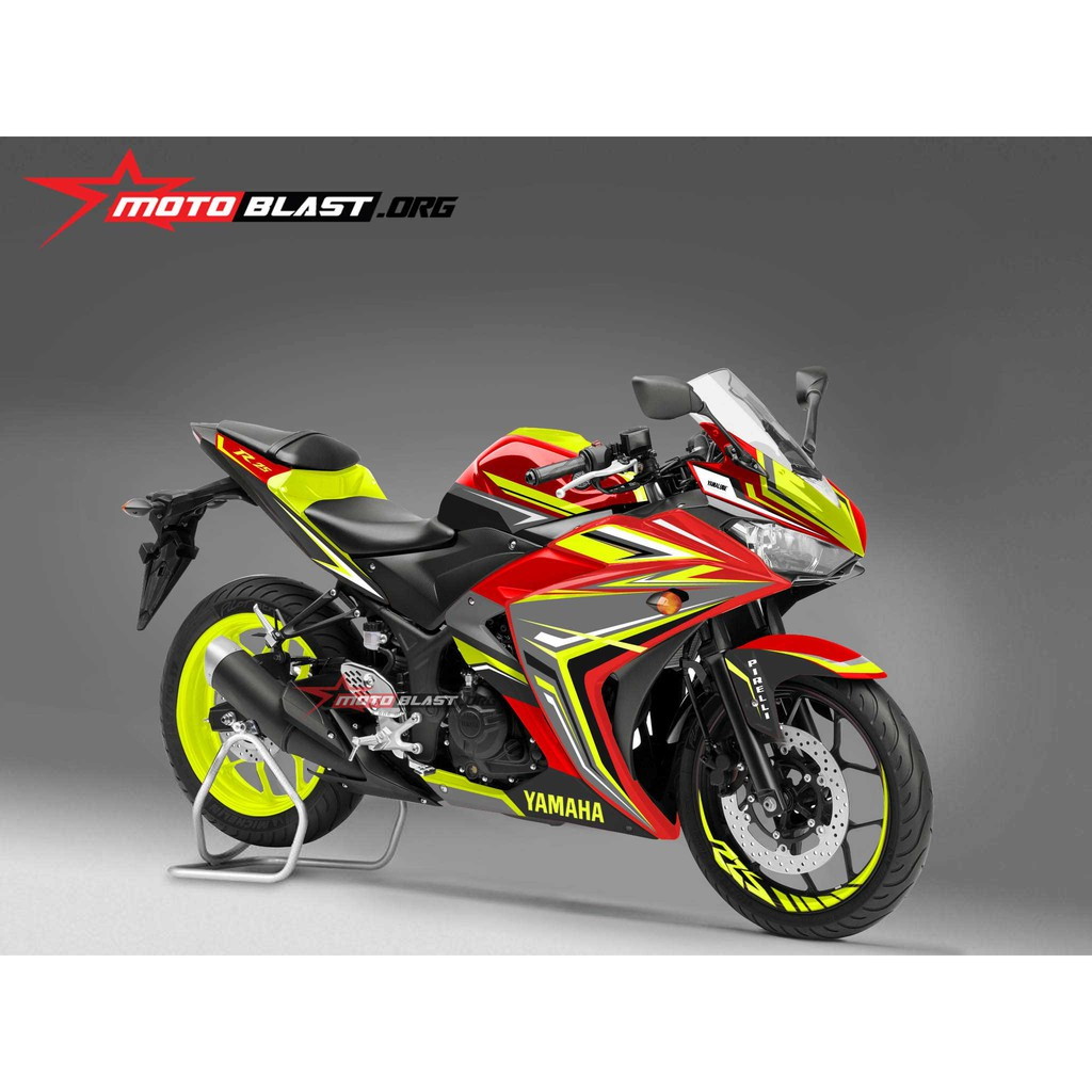 Decal stiker yzf r25 black elegant shopee indonesia