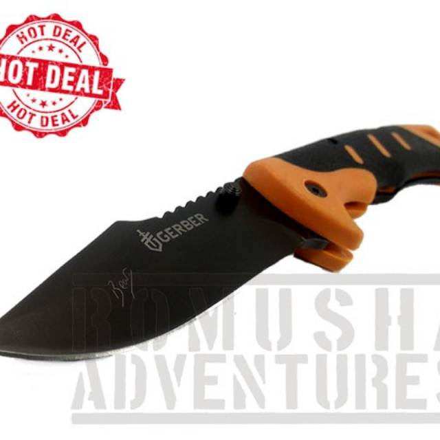 PISAU LIPAT GERBER 135 ASSASSINS FOLDING SHEATH KNIFE OUTDOOR SURVIVAL | Shopee Indonesia