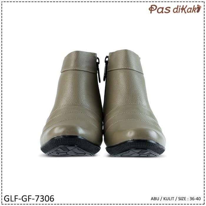 TERLARIS SEPATU KERJA FORMAL PANTOFEL BOOT ANKLE WEDGE WANITA | GLF-GF-7306