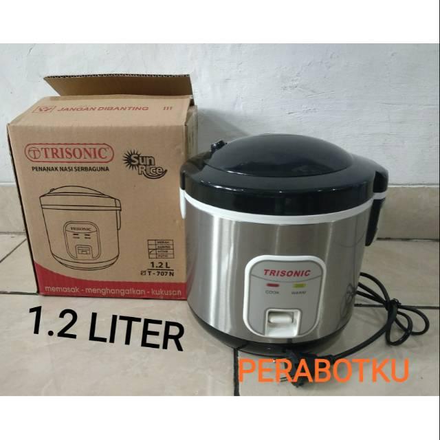 Magic Com Trisonic 1.2 Liter T-707 N / Rice Cooker Penanak Nasi Serbaguna 3 in 1 | Shopee Indonesia