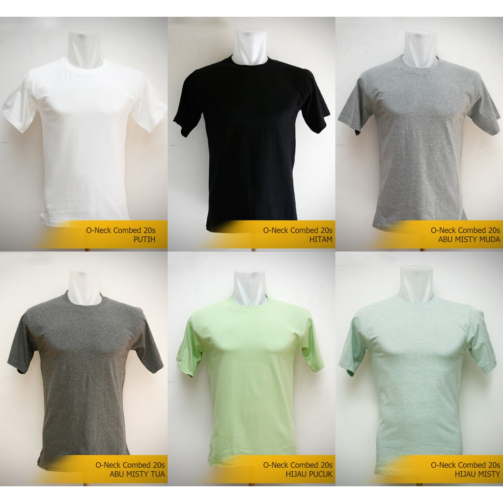 Kaos Polos Cotton Combed 20s Lokal Size Shopee Indonesia Xl Lengan Panjang