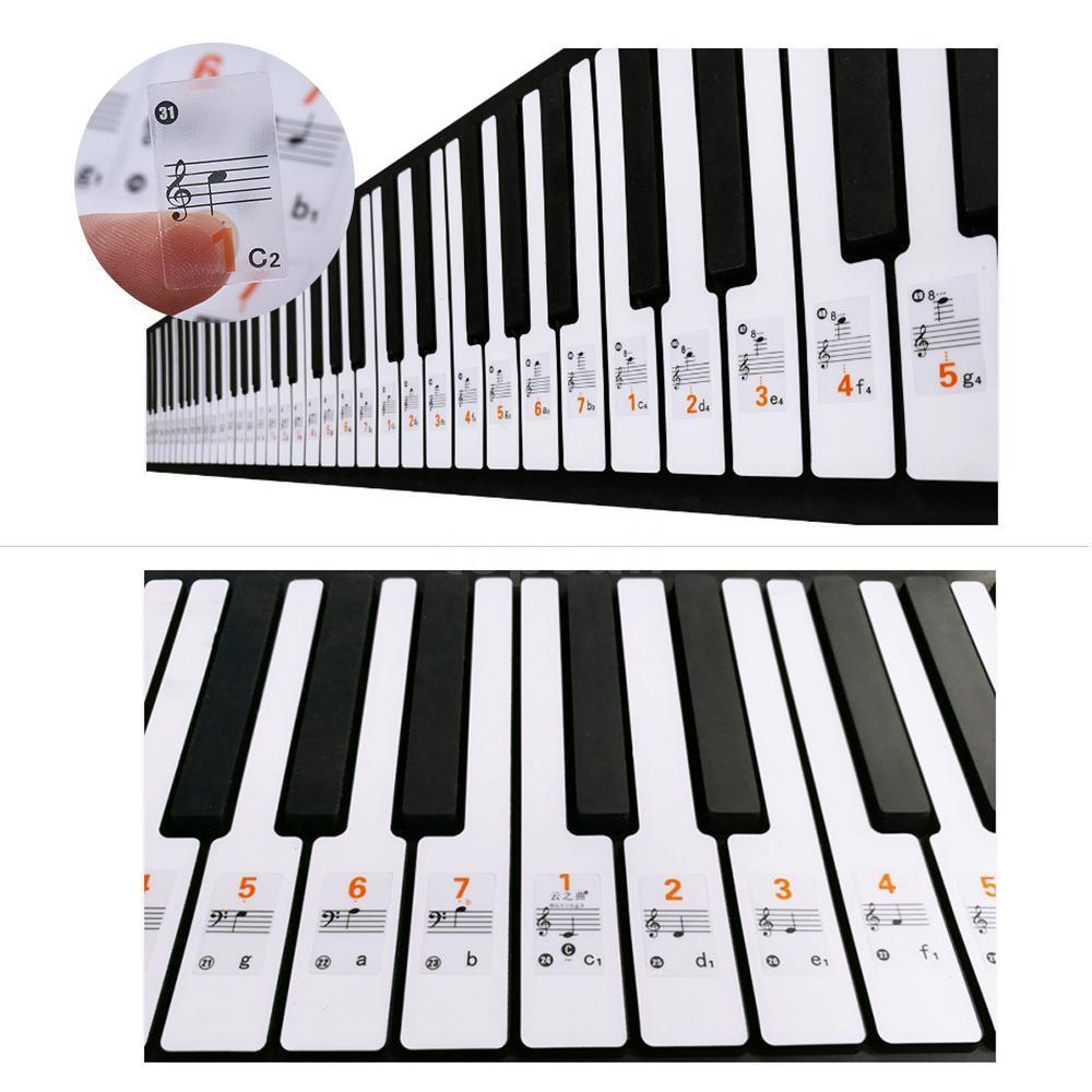 Stiker Tempelan Penanda Kunci Not Balok Piano Keyboard Transparan Shopee Indonesia