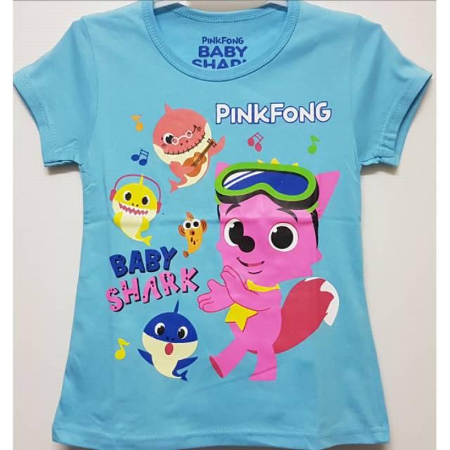 Baju Anak Perempuan Baby shark Musik Size 1 2 3 4 5 6 Tahun  768bfc6d11