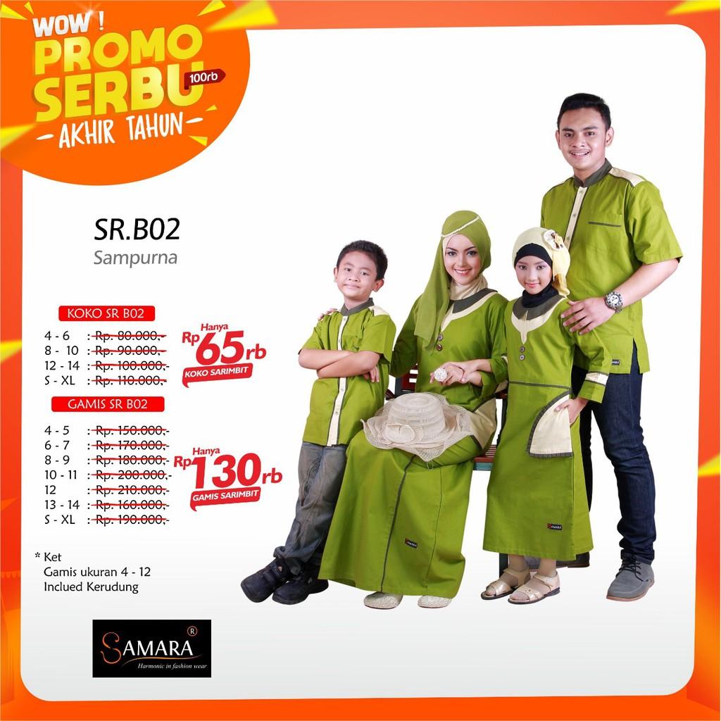 SRE01 | Sarimbit muslim couple baju keluarga seragam Koko gamis ayah ibu anak branded terbaru murah | Shopee Indonesia