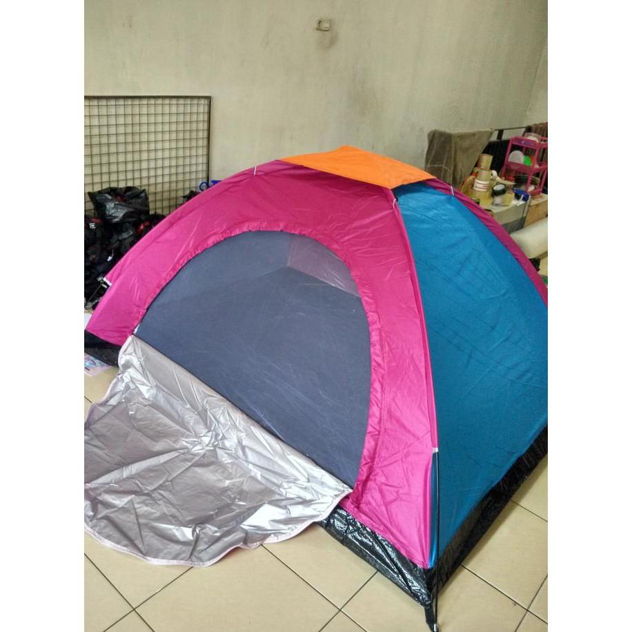 Diskon 40 Tenda Camping Motif Camo Untuk 4 Orang Murah Hemat Lampu Model Bulat Bakpau Shopee Indonesia
