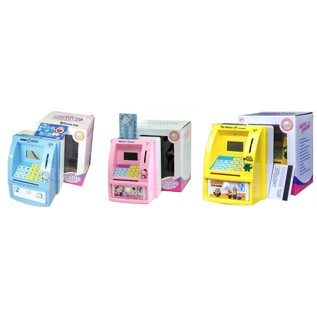 Celengan Atm Mini Hello Kitty Mesin Hitung Saldo Uang Kertas Dan Hellokitty Pink Koin At Seikhashop Shopee Indonesia