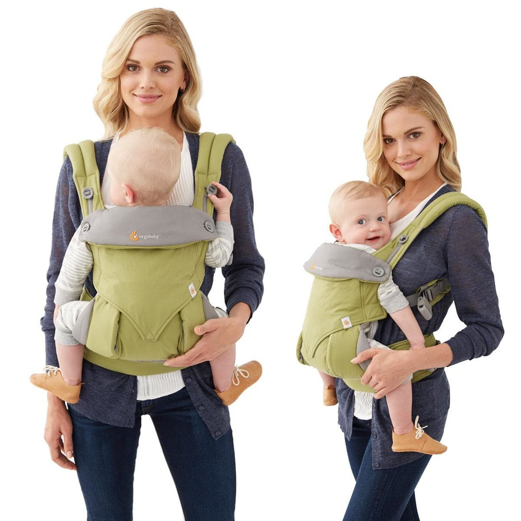 green baby carrier