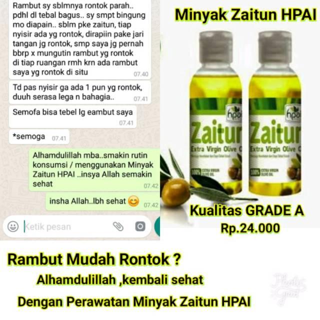 Minyak Zaitun Hni Hpai Extra Virgin Olive Oil Untuk Kesehatan Wajah Rambut Kulit Dan Bibir Shopee Indonesia