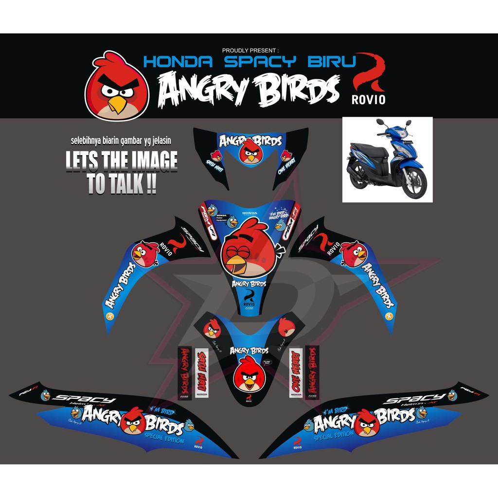 Decal sticker striping motor honda spacy shopee indonesia