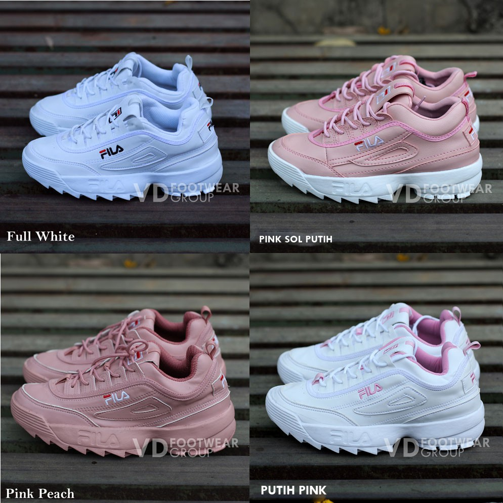 Sepatu Fila White Ladies Sneakers Fashion Cewe Cewe Sport