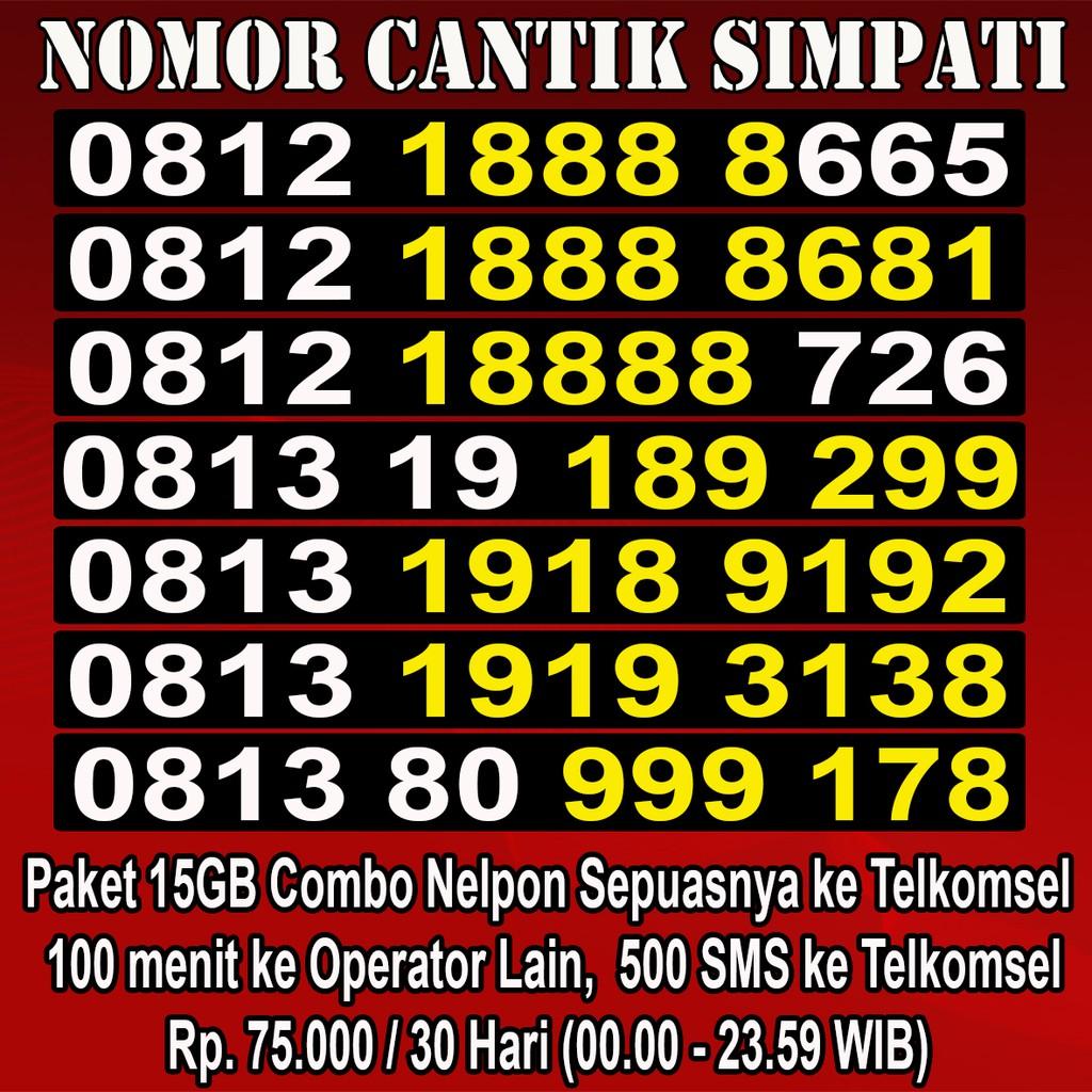 Obral Nomor Cantik Simpati Termurah (Nocan,Kartu Perdana,Telkomsel) 88888 | Shopee Indonesia