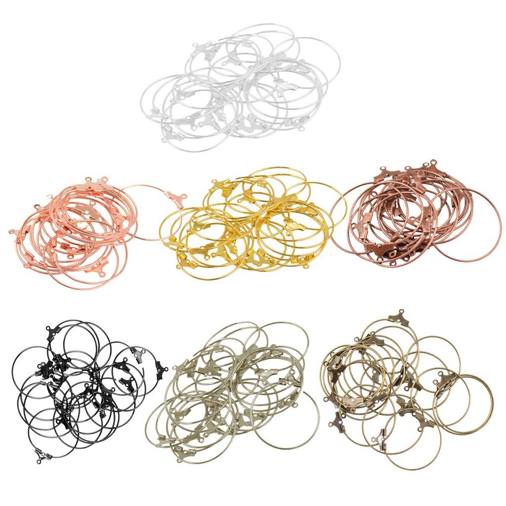 20pcs DIY Craft Round Hoop Loop Ear Wire Jewelry Making Earrings Findings