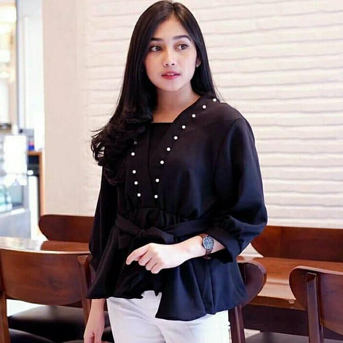 Icha Tunik Katun Murah Baju Atasan Blouse Panjang Blouse Casual Baju Muslim Modern  Trendy Terbaru  bb399f307d