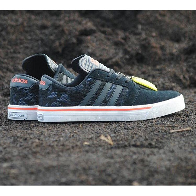 Adidas Neo Cloudfoam Super Skate Black Leather  e064873164