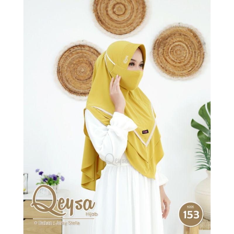 Qeysa hijab original / Qeysa hijab kode 153 / jilbab Qeysa free masker