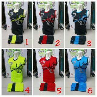 Singlet Drifit Mizuno Baju Kaos Olahraga Jersey Bola Setelan Futsal / Volly Mizuno