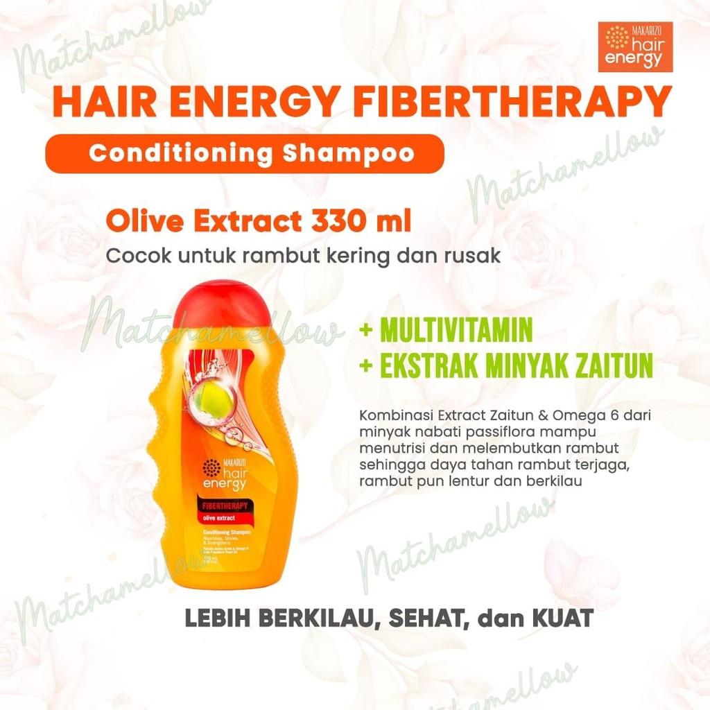 ❄️MATCHA❄️MAKARIZO HAIR ENERGY FIBERTHERAPY CONDI SHAMPOO 170 320 ML SAMPO PEMBERSIH RAMBUT 2IN1-OLIVE