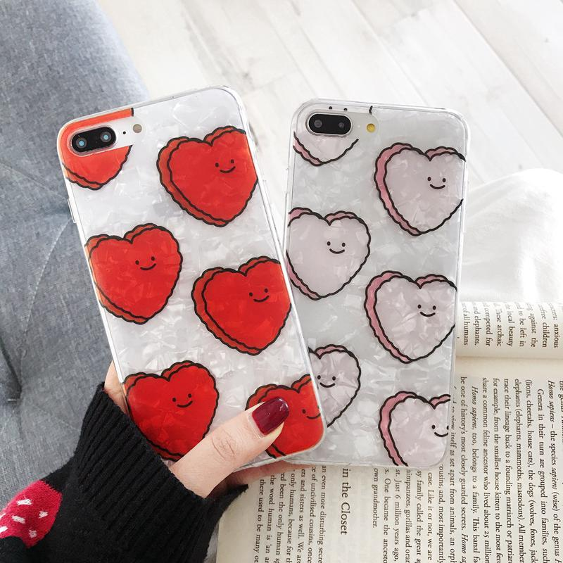 c74cd741cbb9ae iPhone X XS Max XR Case Love Heart Shell Pattern Soft TPU Shockproof Slim Cover  iPhone 8 7 6 6S Plus | Shopee Indonesia