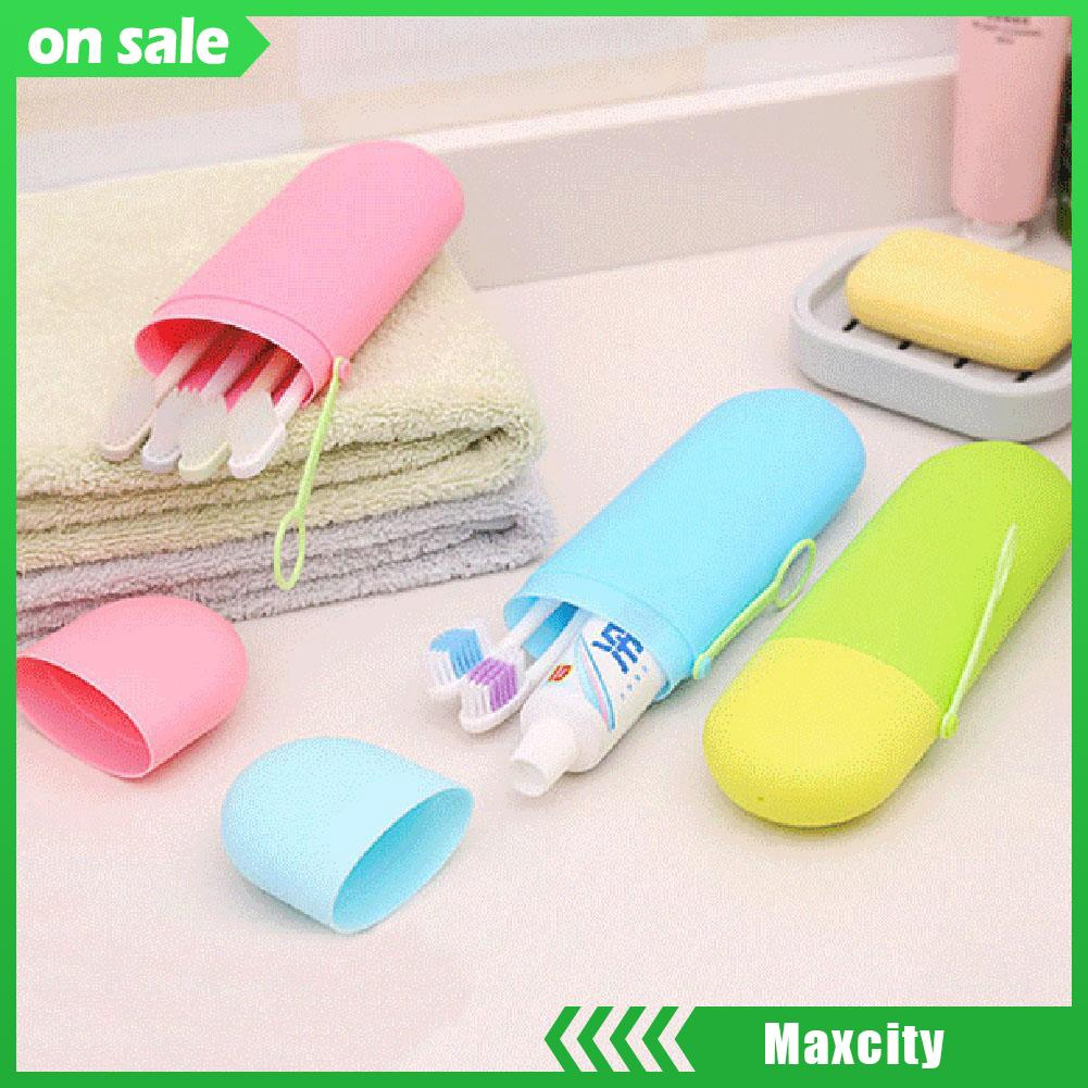 1X Portable Toothbrush Toothpaste Storage Box Holder Travel Brush Case Container