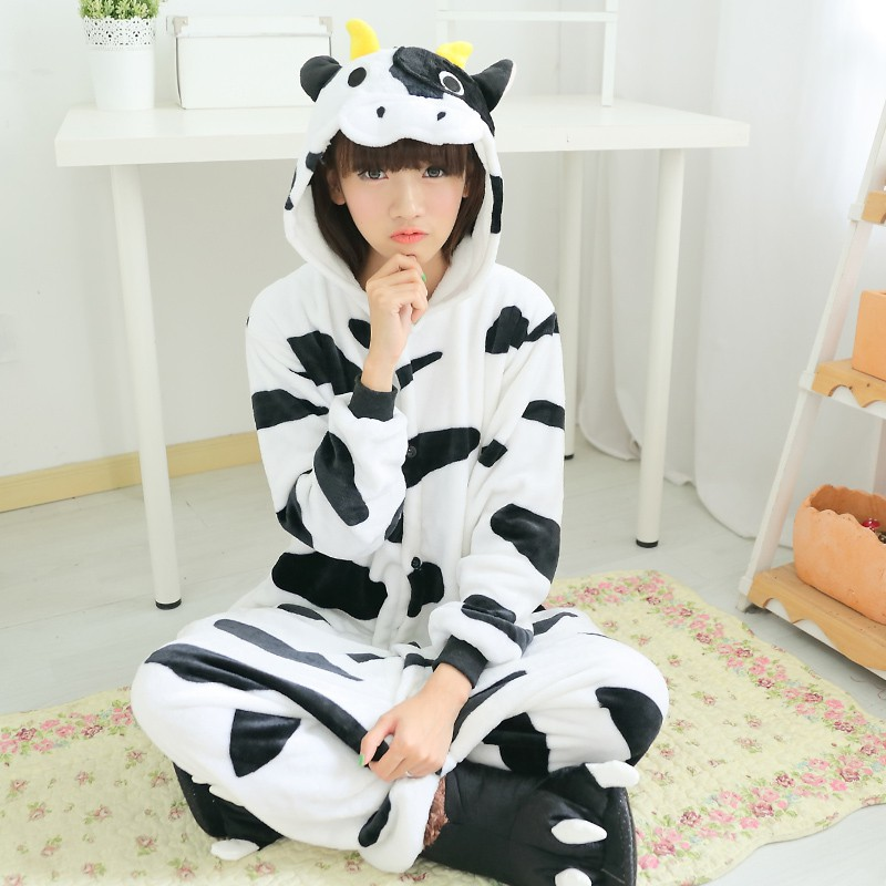 Hot Unisex Unicorn Kigurumi Pajamas Animal Cosplay Costume Jumpsuit Sleepwear US