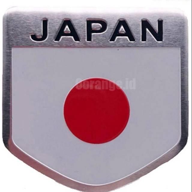 Emblem Bendera Jepang Logo Jepang Stiker 3d Jepang Bahan Metal Shopee Indonesia