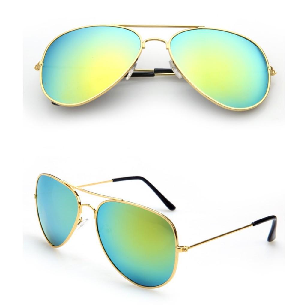Kacamata Pelindung Matahari dengan Model Cermin dan Bahan Logam Bergaya  Retro untuk Wanita Dan Pria  6ada88dd32