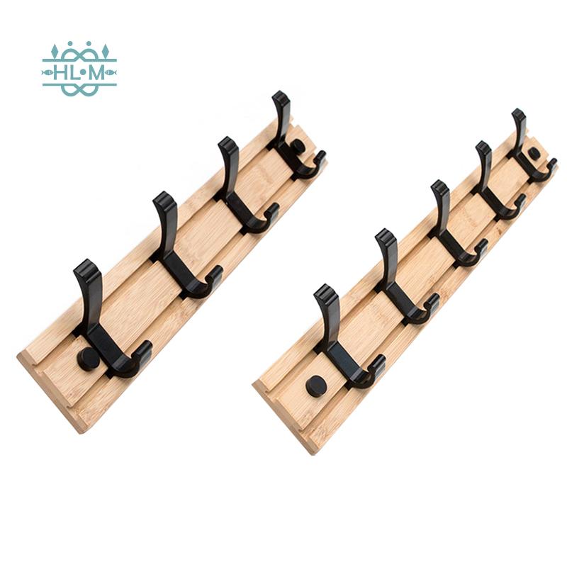 2pcs Coat Rack Clothes Hanger Hooks Living Room Closet Wooden Hat Racks Coat Hanger Wall Hook Shopee Indonesia