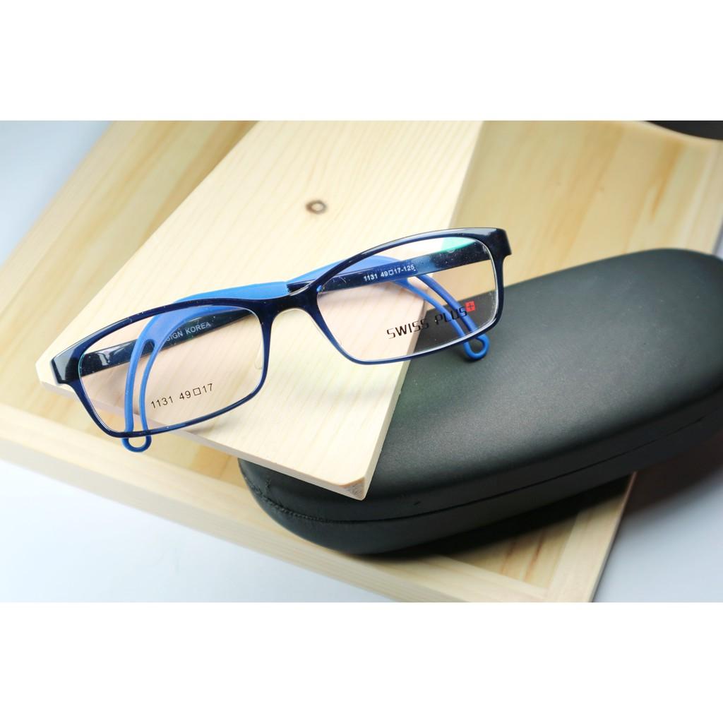 FR-AE327 Frame Kacamata Branded Murah Baca Korea Swiss Plus 1131 Blue Shiny   6befaefee7