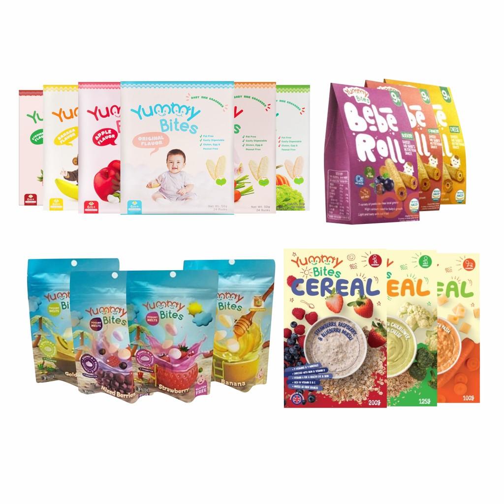 Limited Stock Yummy Bites Rice Baby Cracker 50gr Snack 123 Biskuit Bayi Crackers Makanan Anak Shopee Indonesia