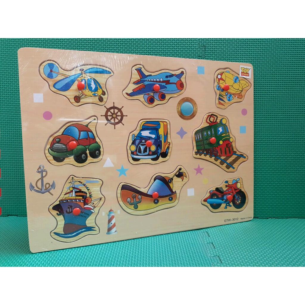 Free Ongkir Bubble Puzzle Knop Knob Kayu Transport Buah Sayur Mainan Stiker Dan Hewan Shopee Indonesia