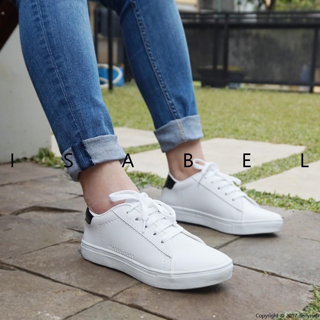 Isabel Sepatu Kets Sport Santai Wanita 1205 Sneakers Shoes White Putih