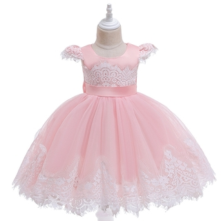 Wonderful Kids Beautiful Model Dresses Wholesale Lace Flower Patterns Ruffle Kid Ball Gown Dress Shopee Indonesia