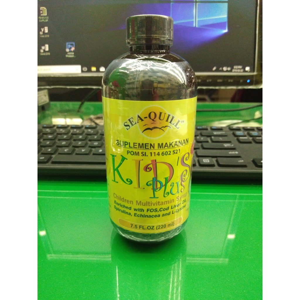 Jual SEA QUILL KIDS PLUS CHILDREN MULTIVITAMIN SYRUP ISI 220 ml kode QR0038 | Shopee Indonesia
