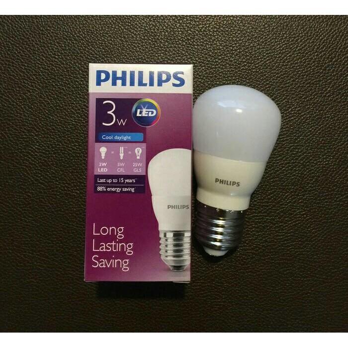 PHILIPS LAMPU LED BOHLAM 3W 3 W 3WATT 3 WATT PUTIH COOL DAYLIGHT | Shopee Indonesia