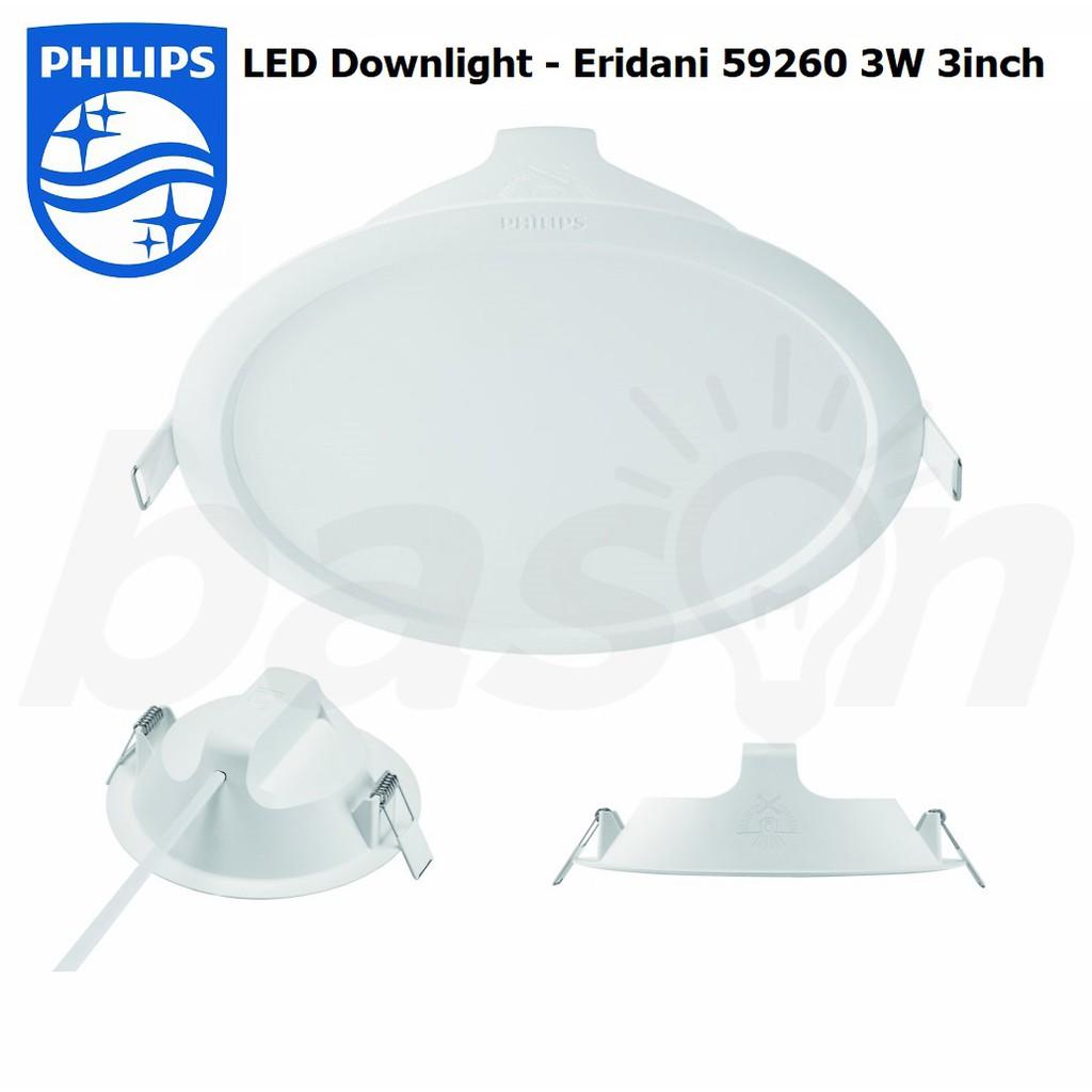 Philips Led Downlight 59260 Eridani 3w 3 Quot Wh 080 Shopee