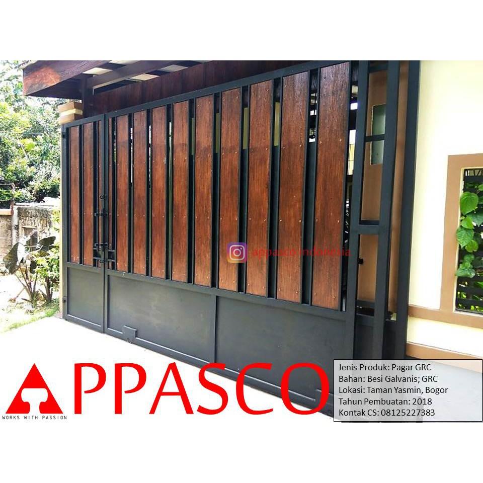 Pagar Grc Minimalis Kayu Di Taman Yasmin Bogor Shopee Indonesia