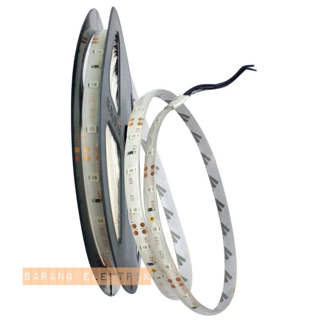 Led Strip 5050 12v Ip44 Biru Tosca Outdoor Ledstrip 5m Lampu 24v Mata Besar Merah Hijau Coolwhite Shopee Indonesia