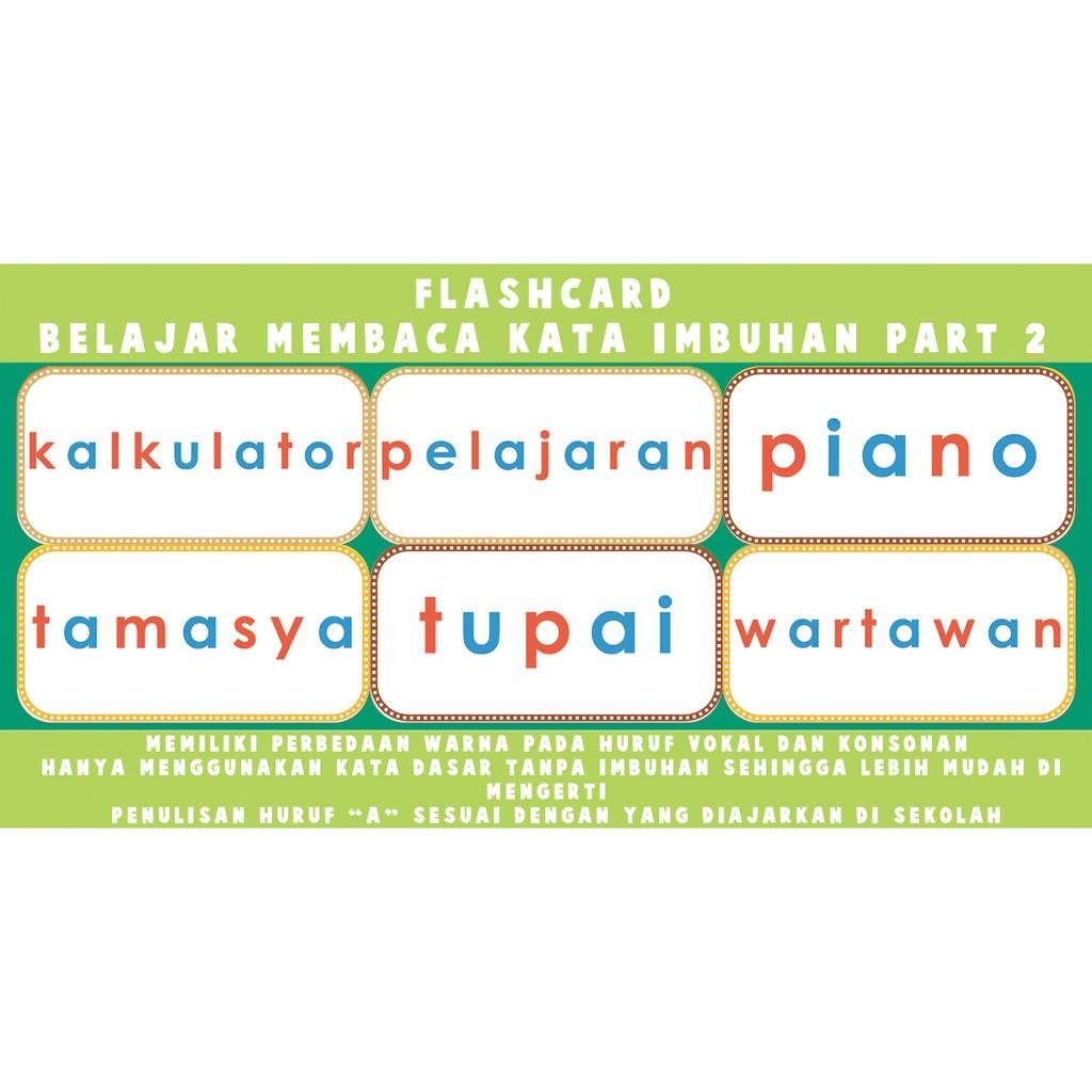 Flashcard Membaca Kata Sederhana Dengan Imbuhan Part 2 Shopee Indonesia