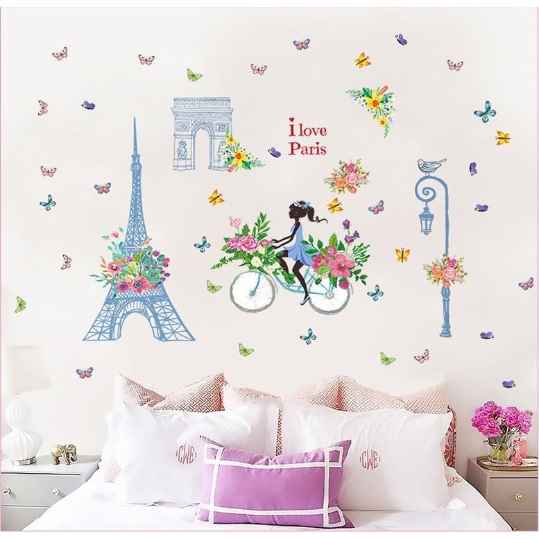 Wall Stiker / Wallstiker / Wall Sticker / Dinding 39 I Love Paris | Shopee Indonesia