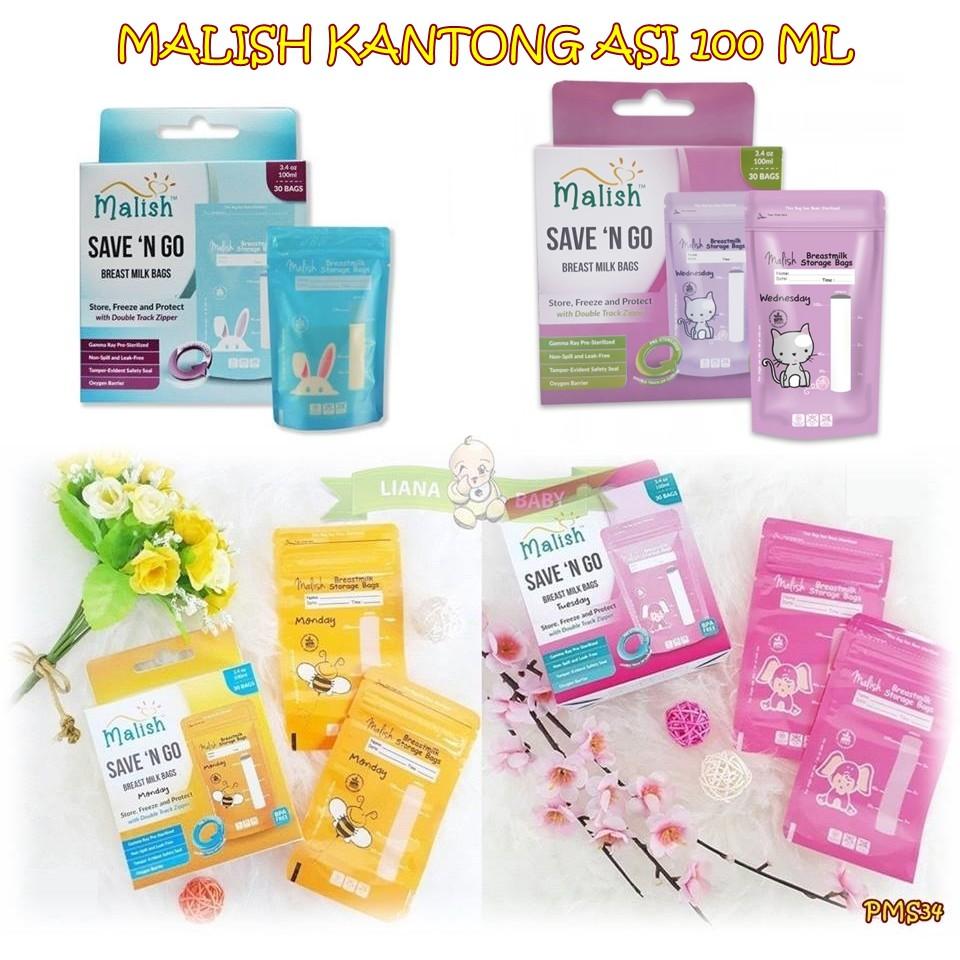 Mcb Malish Breast Milk Bags Save N Go 100 Ml Kantong Asi Gabag Storage 30pc Isi 30 Pcs Shopee Indonesia