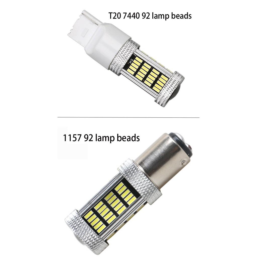 8x 1157 BAY15D 18 SMD 18 LED 5050 Plasma White Car Tail Brake Lights Bulb Lamp