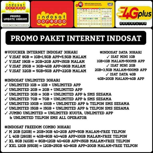 Paket Data Internet Indosat Unlimited Kuota Indosat Mini Dan Freedom
