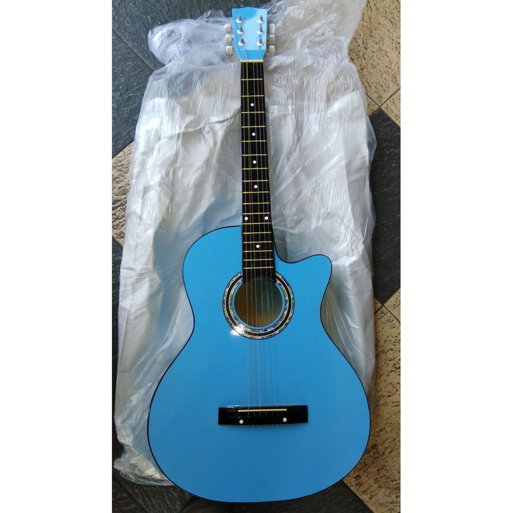 Gitar Akustik Jumbo Taylor Warna Birumuda Jakarta Murah